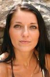 Beautiful Eyes. Young woman with beautiful eyes wearing a bikini top Royalty Free Stock Images