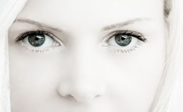 Beautiful Eyes. Beautiful blue eyes of young blonde British model Royalty Free Stock Photography