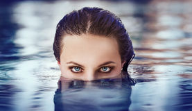 Beautiful eyes stock photography
