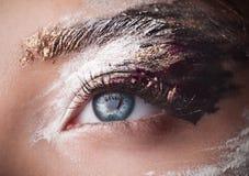 Beautiful Eyes brushstroke make-up Stock Photo