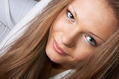 Beautiful eyes gaze Royalty Free Stock Photo