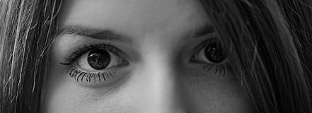 Beautiful eyes of a girl close up Stock Photo