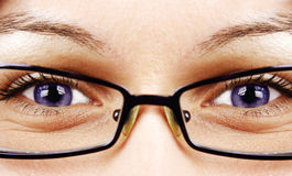 Beautiful eyes and glasses Stock Photography