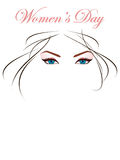 Beautiful eyes and hairs for woman's day Stock Images