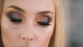 Beautiful eyes. Perfect make-up and eye shadow and lashes.