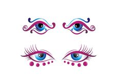 Beautiful Eyes, uniq, vectorart and ilustration stock illustration
