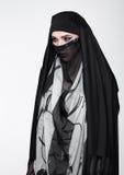 Beautiful eyes woman wearing fashion burka Royalty Free Stock Photos