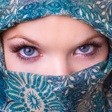 Beautiful eyes of a young woman Stock Photography
