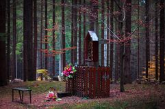 Beautiful fable lonely chapel royalty free stock images