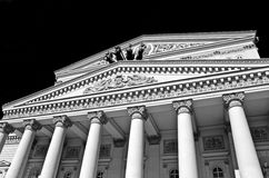 Beautiful facade of the Bolshoi Theatre, Moscow, Russia Stock Photography