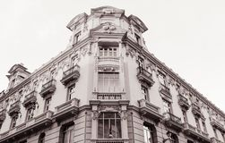 Beautiful facade of the building stock photo