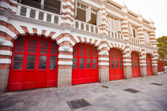 Beautiful Facade of Fire Station in Singapore Royalty Free Stock Image
