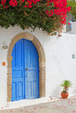 Beautiful facade in a greek village Stock Photos