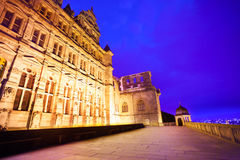 Beautiful facade of Heidelberg castle during night Stock Images