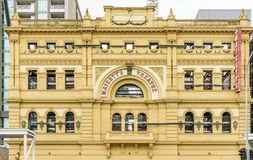 The beautiful facade of Her Majesty`s Theater, Adelaide, Southern Australia stock image