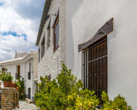 Beautiful facade of a house in La Alpujarra, Granada, Spain Stock Photo