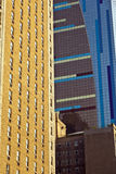 Beautiful facade of modern skyscraper in New York in afternoon l Royalty Free Stock Photos