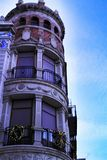 Beautiful facade of modernist building in Xixona. Alicante province, Spain royalty free stock image