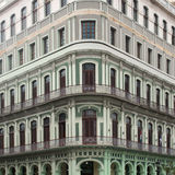 Beautiful facade of the old building Stock Photography