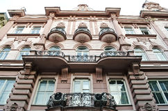 Beautiful facade of the old building in Lvov Royalty Free Stock Image
