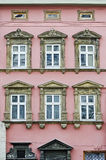 Beautiful facade of the old building in Lvov Stock Photos