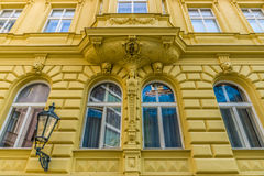 The beautiful facade of the old house. Royalty Free Stock Images
