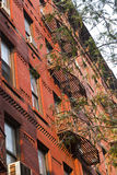 Beautiful facade of a residential building in New York City Stock Image