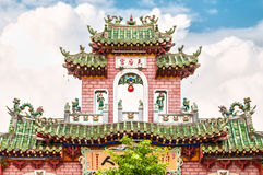 Beautiful facade of temple in Vietnam, Asia. Royalty Free Stock Images