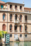 Beautiful facade of typical merchant house on Grand canal, Venice Stock Image