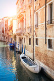 Beautiful facade of typical merchant house on Grand canal, Venice Royalty Free Stock Images
