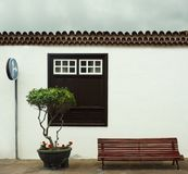 Beautiful facade of a typical small house in Garachico, Canary Islands stock images