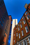 Beautiful facades in London against the blue sky Royalty Free Stock Image