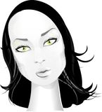 Beautiful face. Beautiful girl, black hair, urban style, blue sky Stock Photography