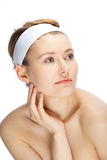 Beautiful face. Clean and beautiful face of a young woman Royalty Free Stock Photo