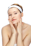 Beautiful face. Clean and beautiful face of a young woman Royalty Free Stock Image