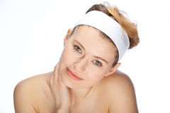 Beautiful face. Clean and beautiful face of a young woman Royalty Free Stock Images