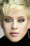 Beautiful face. Portrait of a woman in an evening makeup stock photos