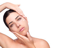 Botox on Face Skin Royalty Free Stock Photos