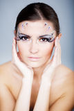Beautiful face art Stock Photography