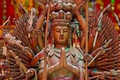 Beautiful face of Buddha image Royalty Free Stock Photography