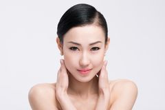 Beautiful face and clear skin Stock Image