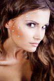 Beautiful face with fashion make-up Royalty Free Stock Photography