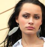 Beautiful face of girl stock photos
