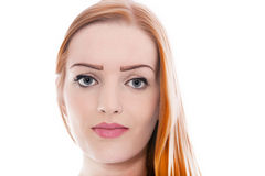 Beautiful Face of Girl Up Close Stock Photography