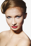 Beautiful face of a glamour woman Stock Image