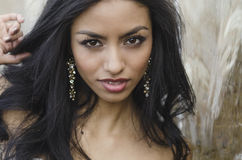 Beautiful face and hair Royalty Free Stock Photo