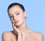 Beautiful face with healthy clean skin Stock Image