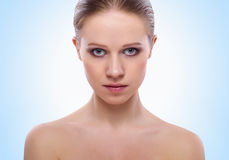 Beautiful face a healthy girl Stock Images