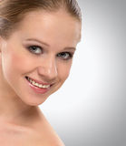 Beautiful face healthy young woman smiling Royalty Free Stock Images