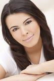 Beautiful Face of Hispanic Woman or Girl Stock Photos